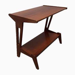 Modernist Teak Side Table by Louis van Teeffelen for WéBé, 1950s