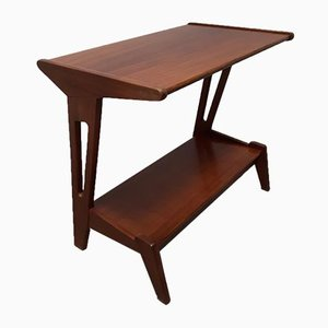 Tavolino modernista in teak di Louis van Teeffelen per WéBé, anni '50