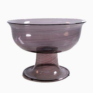 Italian Murano Glass Filigrana Bowl by Tapio Wirkkala for Venini, 1980s