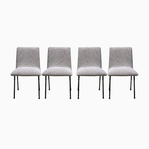 CM145 Dining Chairs by Pierre Paulin for Meubles TV, Circa 1955, Set of 4