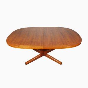 Mesa de comedor extensible danesa de teca de AM Furniture, años 60