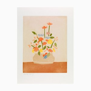 Alex Katz, Wildflowers In Vase, 2008, aguatinta en color