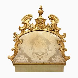 Palast Venezianisches Vergoldetes Holz Kopfteil, 1800er