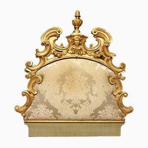 Palatial Venetian Gilt Wood Headboard, 1800s