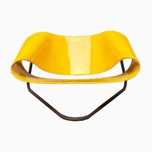 Italian Yellow Nastro CL9 Lounge Chairs by Cesare Leonardi & Franca Stagi for Bernini, 1960s, Set of 2