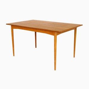Swedish Teak Extendable Dining Table, 1950s