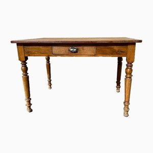 Antique Louis Philippe Cherry Bistro Table, 1900s