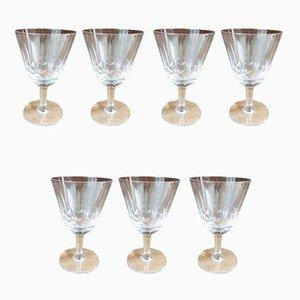 Kristallglas Weingläser, 1930er, 7er Set