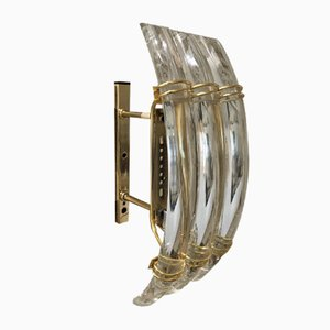Convex Gilt Sconce from Venini, 1980s