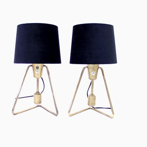 Brass Table or Wall Lamps from ASEA, 1950s, Set of 2