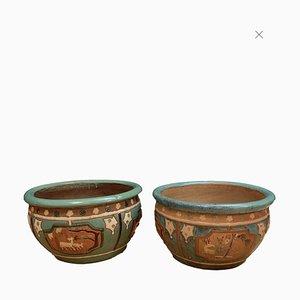 Italian Garden Pots, 1950s, Set of 2