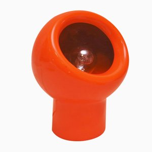 Orangefarbene Tischlampe von Gabbianelli, 1960er
