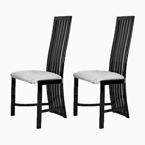Vintage Black Model L4K 252 Side Chairs by Liberty Furniture Industries Ltd for Liberty Furniture Industries Ltd, Set of 2
