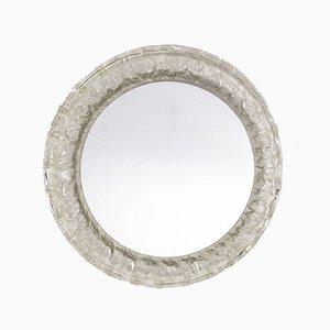 Round Hillebrand Style Plexiglass Mirror, 1970s