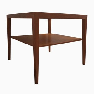 Mid-Century Teak Coffee Table with Magazine Shelf by Severin Hansen for Haslev Møbelsnedkeri