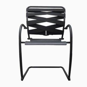 Italienische Vintage Freischwinger Canasta Sessel von Heron Parigi für Heron Parigi Design, 2er Set
