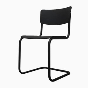 Vintage German Black S43 Cantilever Chair by Mart Stam for Thonet