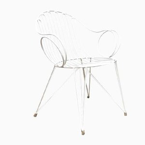 Mid-Century German Metal Garden Chair from Mauser Werke Waldeck
