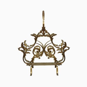 Antique Louis XV Bronze Magazine Rack, 1900