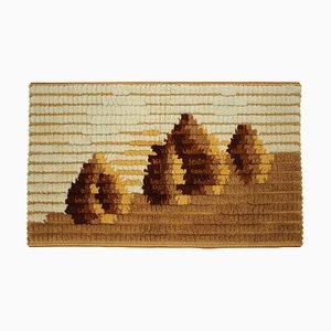 Mid-Century Handmade Wool Tapestry