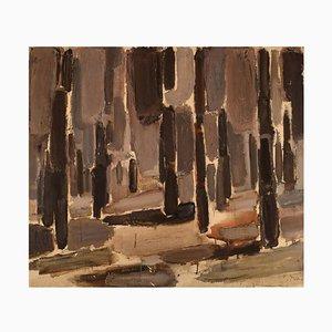 Olle Agnell, Öl auf Leinwand, Moderne Komposition, 1960er