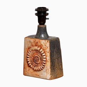 Vintage Terracotta Keramik Tischlampe von Bernard Rooke, 1960er
