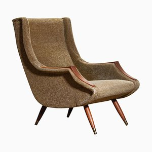 Italian Lounge or Easy Chair by Aldo Morbelli for Isa Bergamo, 1950s