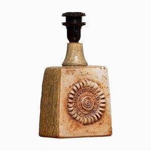 Beige Vintage Terracotta Keramik Tischlampe von Bernard Rooke, 1960er
