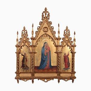 Madonna und Kind mit Engeln, Tempera auf Holz