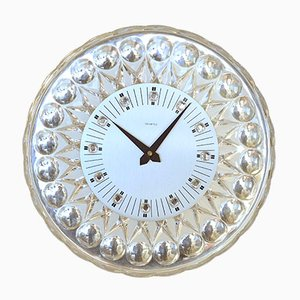 Glass Wall Clock for Joska, 1960s