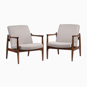 Gfm 64 Armchairs from Gościcińska Furniture Factory, Set of 2