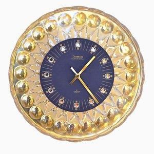 Orologio a muro in vetro di Joska, anni '60