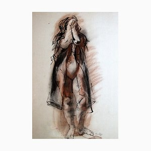 Rico Lebrun - Female Figure - Ink and Crayon - 1941