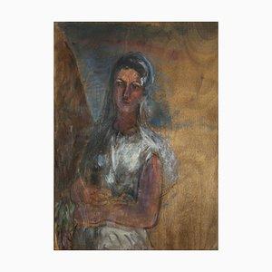 Antonio Feltrinelli - Portrait eines Mädchens - Ölfarbe - 1930er