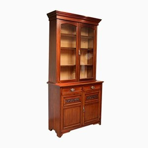 Walnut Cabinet Bookcase from James Shoolbred & Co.