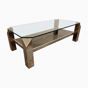 Table Basse Dorée Vintage