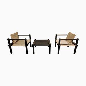 Farmer Stühle & Tisch von Gerd Lange für Bofinger, 1960er