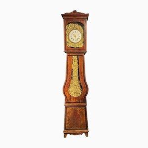 Antike französische Comtoise Morbier Uhr mit hohem Gehäuse aus Holz