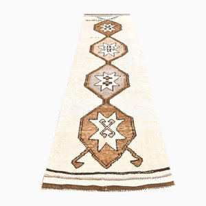 Türkischer Vintage Teppich Läufer