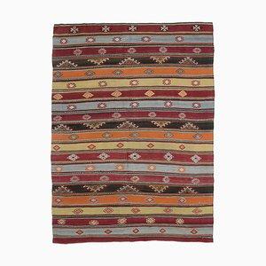 Türkischer Vintage Kilim Flächen Teppich