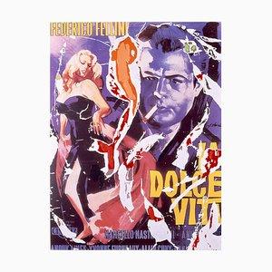 Mimmo Rotella, La Dolce Vita, Siebdruck und Collage