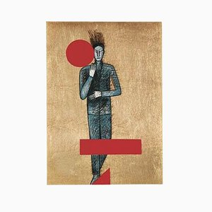 Etching, Aquatint and Serigraphy, Sans Titre by Mimmo Paladino, 2001