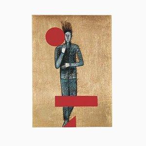 Radierung, Aquatinta und Serigraphie, Sans Titre von Mimmo Paladino, 2001
