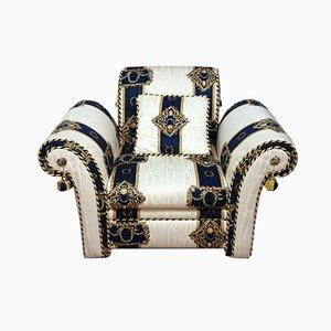 Poltrona Versace in stile, anni '80