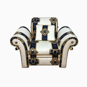Versace Style Lounge Chair, 1980s