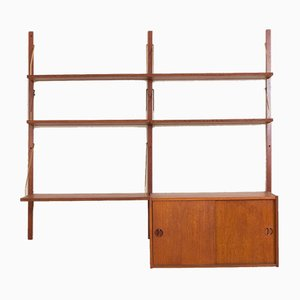 Mid-Century Danish Teak Wall Unit by Poul Cadovius for FM Møbler