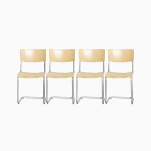 S43 Chairs by Mart Stam for Thonet, 1970s, Set of 4