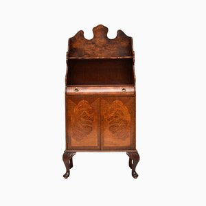 Burr Walnut Book Cabinet, 1930s