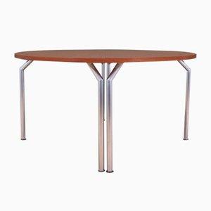 Halbrunder dänischer Teak Tisch von Bent Krogh, 1970er