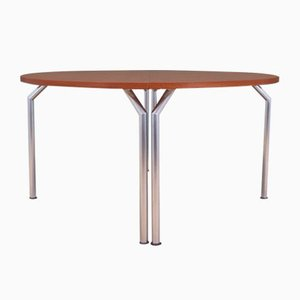 Table Semi-Circulaire en Teck de Bent Krogh, Danemark, 1970s